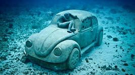 Podmořská verze lidového vozítka VW Brouk.