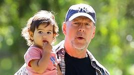 Bruce Willis se svou nejmladší dcerou Mabel Ray.