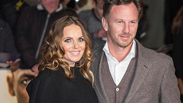 Geri s manželem Christianem Hornerem na snímku z listopadu.