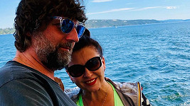 Dana Morávková s manželem v Norsku.