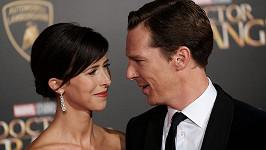 Benedict Cumberbacht a Sophie Hunter se těší na druhého potomka.