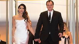 Quentin Tarantino s manželkou Danielou Pick