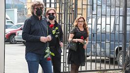 Dlouholetý spolupracovník a přítel Hany Hegerové Petr Malásek s manželkou Danou Morávkovou a synem Petrem