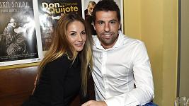 Milan Baroš s manželkou Terezou