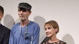 Jiří Schmitzer a Milena Steinmasslová na premiéře filmu Staříci