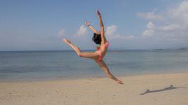 Lili Fischerová na dovolené na Bali