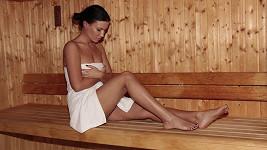 Kromě tance a fitka si Gábina pravidelně dopřává i saunu...