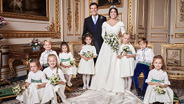 Novomanželé Eugenie a Jack a jejich roztomilí svatebčané