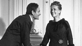 Pierre Cardin s herečkou Jeanne Moreau