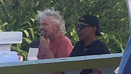 Barack Obama na ostrově rodinného přítele Richarda Bransona