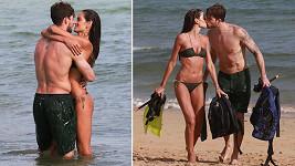 Modelka Izabel Goulart (33) a její přítel, brankář klubu Paris Saint-Germain FC Kevin Trapp (27)