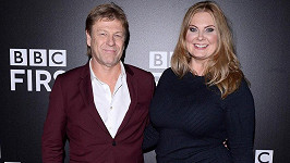 Sean Bean s manželkou Ashley Moore