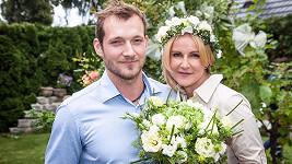 Vendula s novomanželem Josefem