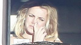 Takhle Britney zachytili fotografové loni v únoru.