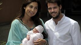 Lucemburský královský pár s dcerou Amalií.