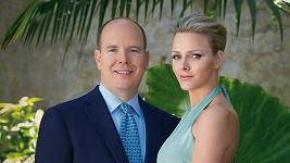 Princ Albert a jeho nádherná snoubenka Charlene Wittstock.