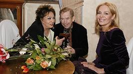 Jiřina Bohdalová s manželi Havlovými