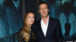 Edward Norton s manželkou Shaunou Robertson