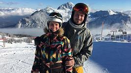 Patricie s přítelem Tiborem na horách v Rakousku