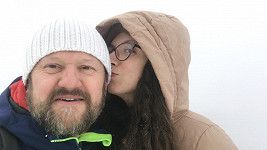 Karel Zima s přítelkyní