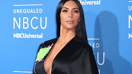 Kim Kardashian na akci NBC v New Yorku