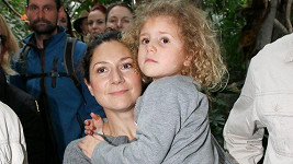 Herečka se svou dcerou Františkou