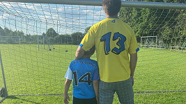 Kryšpín Dopita s tátou
