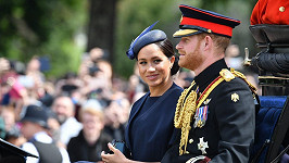 Meghan s manželem Harrym na přehlídce Trooping the Colour