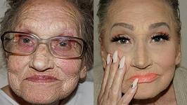 Neuvěřitelná proměna osmdesátileté babičky vizážistky Tei Flego...