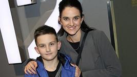 Libuše Vojtková se synem