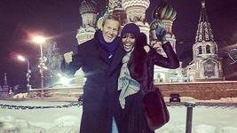 Naomi Campbell s Vladimirem Doroninem na archivním snímku.