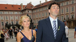Jaromír Jágr a Inna Puhajková