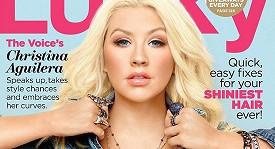 Christina Aguilera na obálce časopisu Lucky.