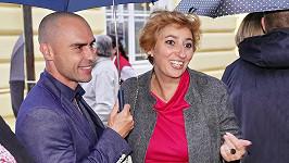 Simona Babčáková s partnerem