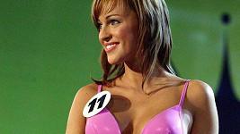 Renata Langmannová na soutěži o nejkrásnější dívku před deseti lety.
