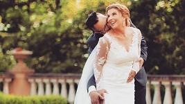 Marcela Škábová se včera vdala. Takhle jí to slušelo jako nevěstě.