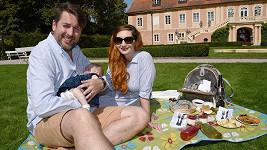 Tomáš Hauptvogel si užil krásný den se svou rodinkou.