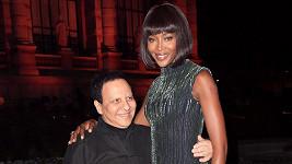 Naomi Campbell se setkala také s módním guru Azzedinem Alaiou.