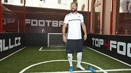 Fotbalista v akci.