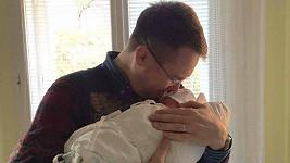 Pyšný táta Roman Šmucler se synem Karlem Josefem