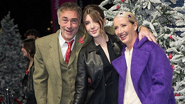 Emma Thompson s manželem Gregem Wisem a dcerou Gaiou