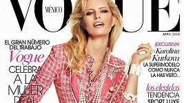 Karolína Kurková na obálce dubnové Vogue.