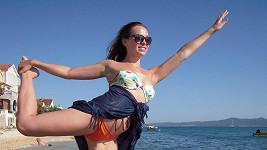 Kamila o dovolené stále udržovala kondici a pravidelně cvičila.
