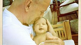 Bruce Willis a jeho nejmladší Mabel.