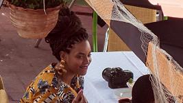 Beyoncé a Jay-Z na obědě s několika přáteli.