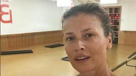 Daniela po cvičení bez make-upu.