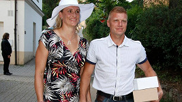Bára Špotáková s partnerem Lukášem Novotným