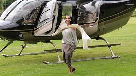 Gábina si dopřála let vrtulníkem.