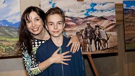 Nela Boudová se synem Daliborem.