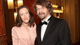 Dan Bárta s manželkou